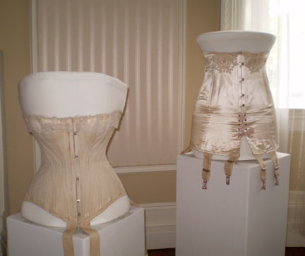 Photograph of two corsets